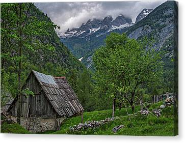 Canvas Print featuring the photograph Shed In The Pass by Stuart Litoff