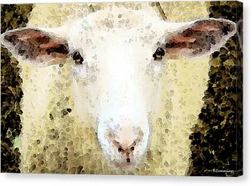 Lamb Canvas Print - Sheep Art - Ewe Rang by Sharon Cummings