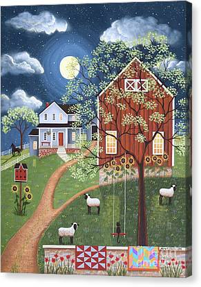 Sheep Hill Farm Canvas Print by Mary Charles