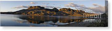Sheep Mountain Sunrise - Panoramic-signed-12x55 Canvas Print