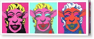 Sheep Triptych Canvas Print by Bizarre Bunny