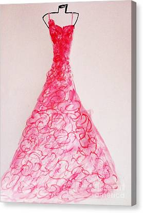 Sheer Twirls In Pink Canvas Print by Trilby Cole