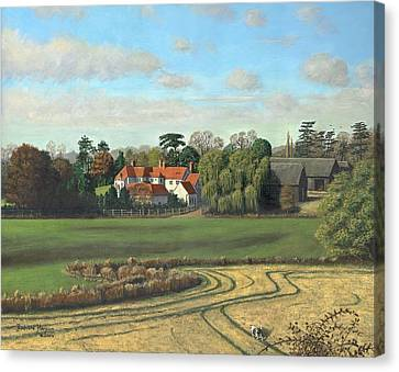 Sheering Hall Near Harlow Essex Canvas Print by Richard Harpum