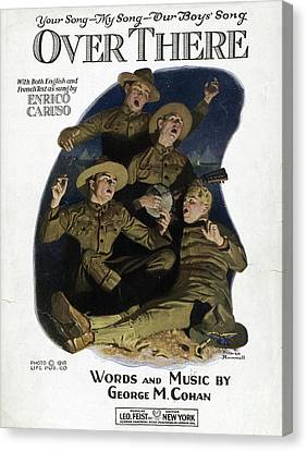Sheet Music Cover, 1918 Canvas Print by Granger