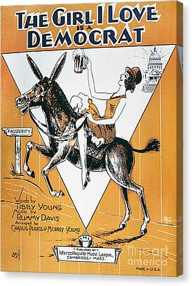 Democrats Canvas Print - Sheet Music Cover, C1932 by Granger
