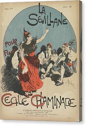 Sheet Music La Sevillane Canvas Print by MotionAge Designs