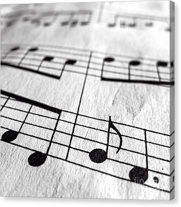 Sheet Music Square Canvas Print