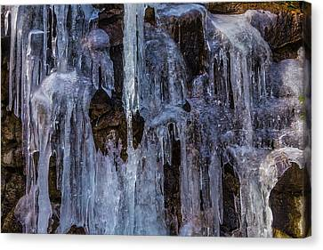 Sheets Of Icicles Canvas Print