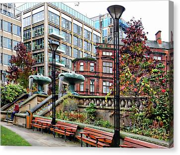 Sheffield Peace Gardens Canvas Print by Dorothy Berry-Lound