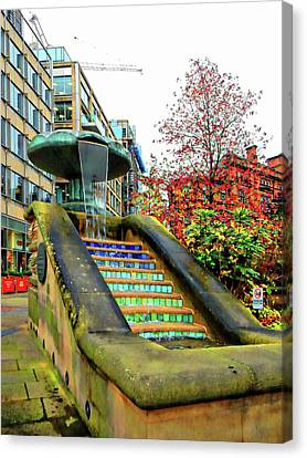 Sheffield Peace Gardens Fountain Canvas Print by Dorothy Berry-Lound