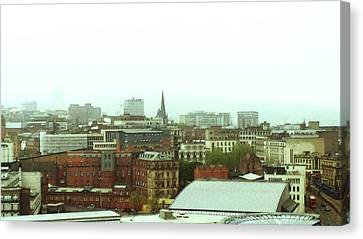 Canvas Print featuring the photograph Sheffield Skyline by Anne Kotan