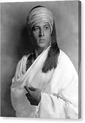 Sheik, Rudolph Valentino, 1921, Portrait Canvas Print