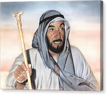 Sheik Zayed Canvas Print by Nanybel Salazar