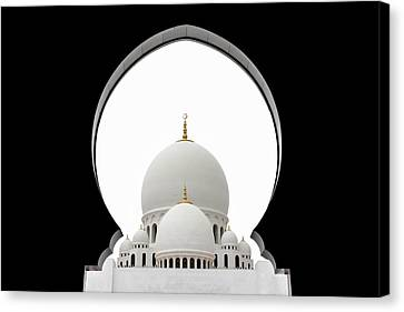 Sheikh Zayed Mosque Dome Canvas Print by Sedef Isik