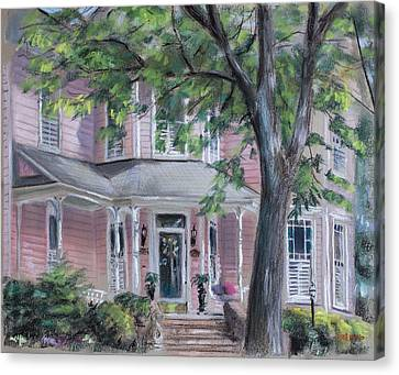 Sheila's Pink House Canvas Print