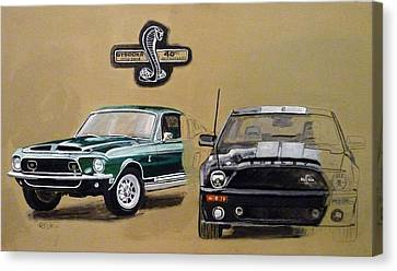 Canvas Print featuring the painting Shelby 40th Anniversary by Richard Le Page
