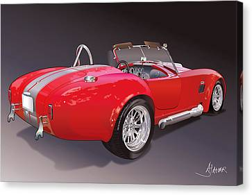 Shelby Cobra Canvas Print by Alain Jamar