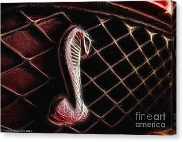 Shelby Cobra Grill Logo Canvas Print by Tommy Anderson