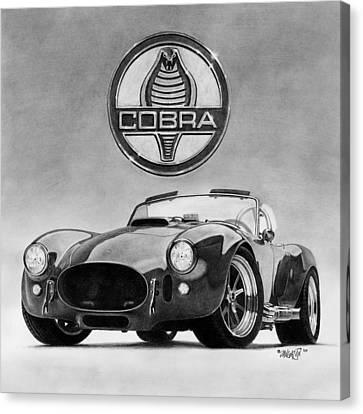 Shelby Cobra Canvas Print by Tim Dangaran
