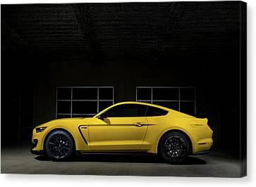 Yellow Cobra Canvas Print - Shelby Gt 350 by Douglas Pittman