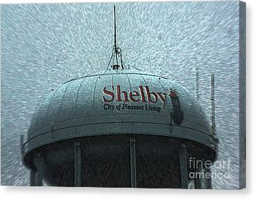 Canvas Print - Shelby North Carolina Water Tower by Kim Pate