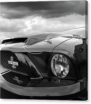 Canvas Print featuring the photograph Shelby Super Snake Mustang Grille And Headlight by Gill Billington