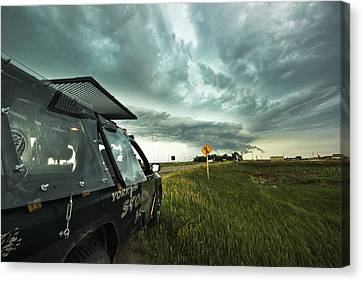 Shelf Cloud Near Vibank Sk. Canvas Print