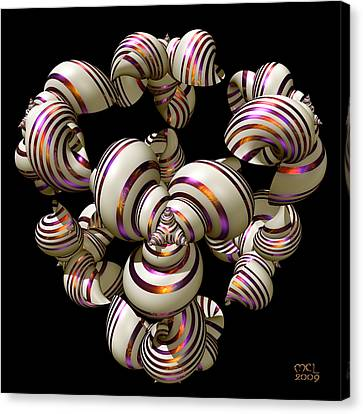 Canvas Print featuring the digital art Shell Convergence by Manny Lorenzo