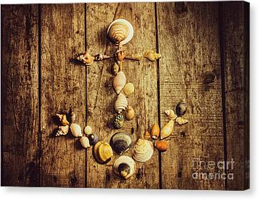 Shell N Anchor Canvas Print by Jorgo Photography - Wall Art Gallery