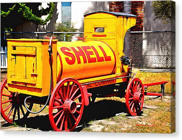 Shell Oil Company Canvas Print by Barbara Snyder