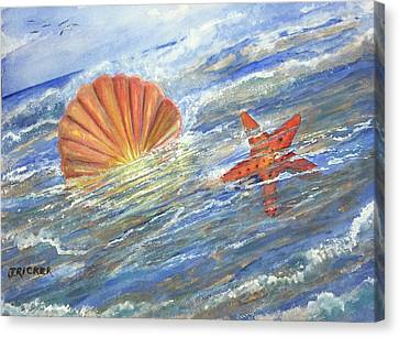 Shell Star  Canvas Print