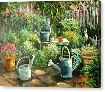 Shelley's Garden Canvas Print by Sally Seago