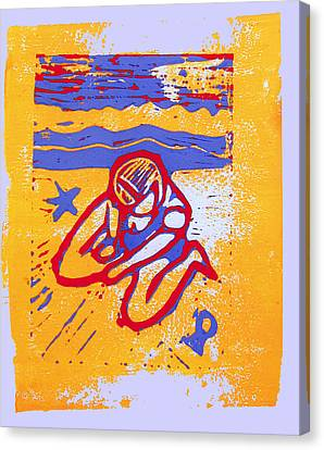 Lino Canvas Print - Shellie - Summer Experiment by Adam Kissel