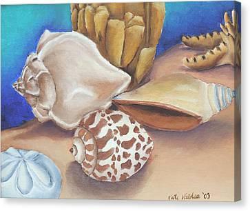Shells Canvas Print by Katiana Valdes