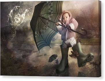 Shelter From The Storm Canvas Print by Christophe Kiciak