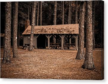 Shelter In The Woods Canvas Print by Menachem Ganon