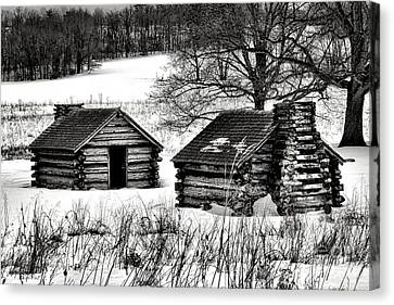 Log Cabin Canvas Print - Shelter The Soldiery  by Olivier Le Queinec