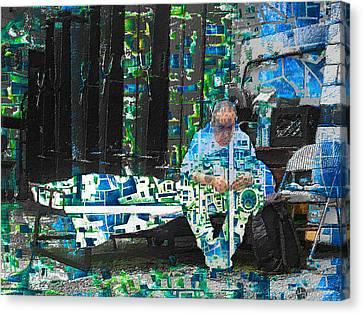 Canvas Print featuring the mixed media Shelter by Tony Rubino