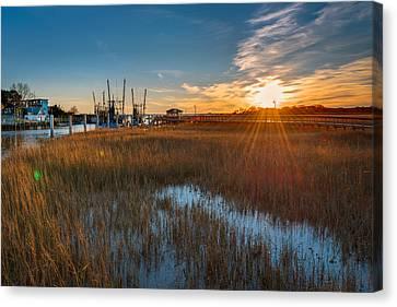 Shem Creek Docks Canvas Print