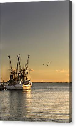 Shem Creek Fishing Boats - Charleston Sc  Canvas Print