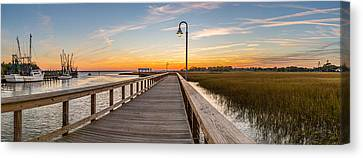 Shem Creek Pier Panoramic Canvas Print