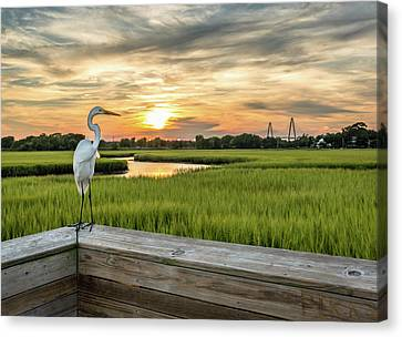 Shem Creek Pier Sunset Canvas Print
