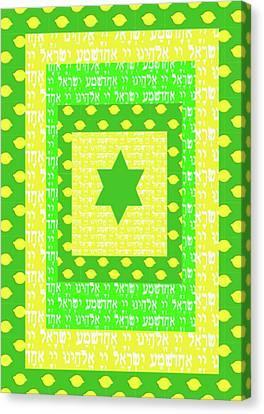 Sukkos Canvas Print - Shema Sukkot by Devorah Fraser
