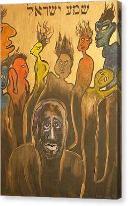 Shema Yisrael Canvas Print by Zsuzsa Sedah Mathe