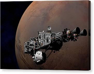 Canvas Print featuring the digital art Shenandoah At Mars by David Robinson