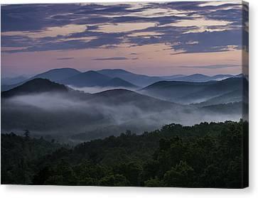 Canvas Print featuring the photograph Shenandoah Sunrise by Kevin Blackburn