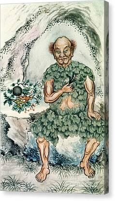 Shennong, Chinese God Of Medicine Canvas Print