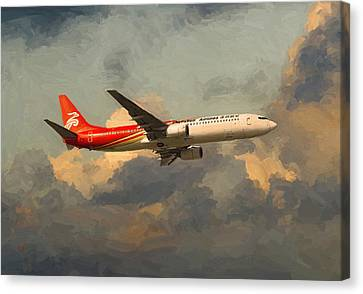 Shenzhen Airlines B739 On Route Canvas Print