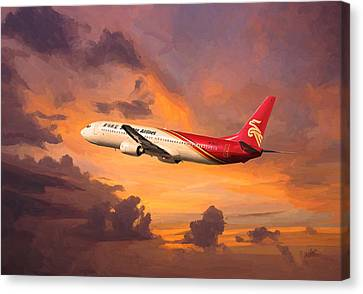 Shenzhen Airlines Enroute Canvas Print