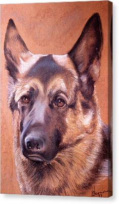 Canvas Print featuring the pastel Shepard by Harvie Brown